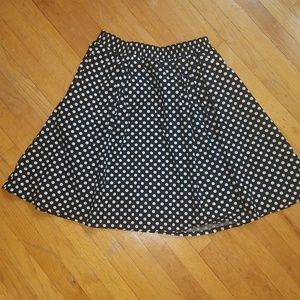 Black/White Polka Dot Midi Skirt